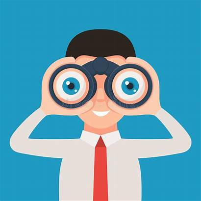 Binoculars Binocular Clipart Looking Through Clip Cartoon