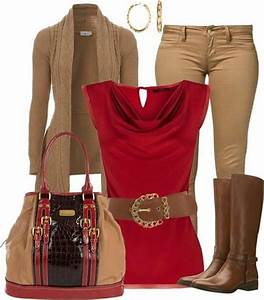 Red and brown outfit lovin it | looks i like | Pinterest | Brown Outfits 2014 and Pretty clothes