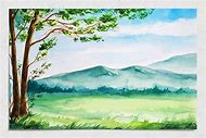 Spring Watercolor Landscape Paintings