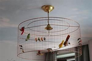 Cage Oiseau Deco : suspension luminaire oiseau ~ Teatrodelosmanantiales.com Idées de Décoration