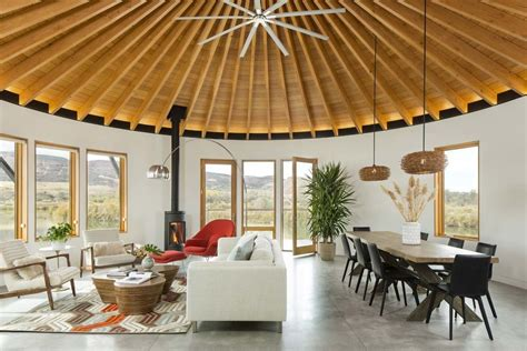 modern interior home photo 3 of 9 in a yurt inspired vacation home on the high
