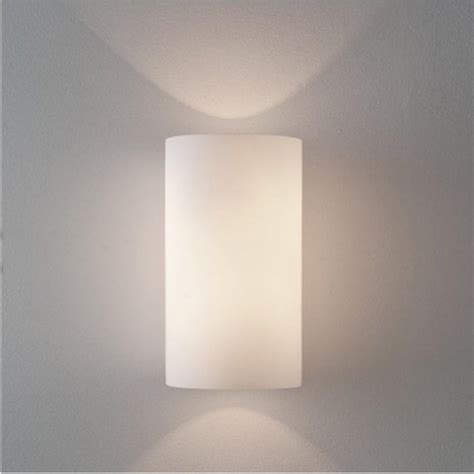 white cylindrical glass wall light from hotel lighting collection