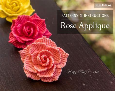 patterns for applique crochet pattern crochet flower pattern for a