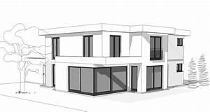Grundriss Haus 200 Qm : flachdach v kmc effizienzhaus ~ Watch28wear.com Haus und Dekorationen