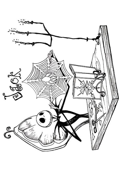 top  nightmare  christmas coloring pages