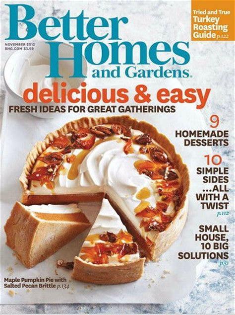 better homes and gardens magazine november 2013 eat