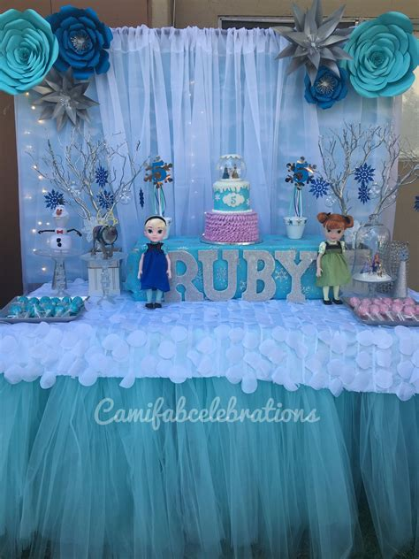 frozen theme birthday party winter wonderland party