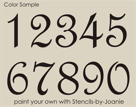 Hausnummer Schablonen Vorlagen by Details About Stencil Script Numbers