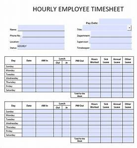 7 daily timesheet templates free sample example format With hourly employee timesheet template