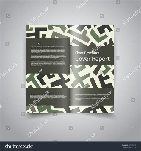Two Fold Brochure Design by Vector Two Fold Brochure Design Template Stock Vector