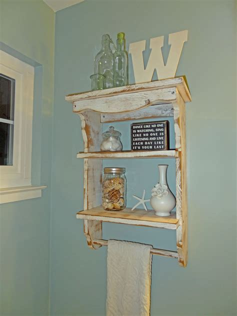 Bathroom Wall Shelves   Beach Theme ? Welsh Design Studio