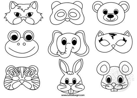 maschere da colorare animali maschere di animali da colorare tuttodisegni
