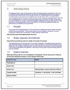 database design document software development template With software design documentation template