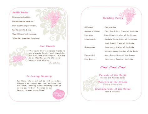 wedding program templates publisher program template weddingbee photo gallery