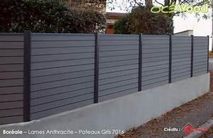 Cloture Pvc Sur Muret : brise vue composite ~ Melissatoandfro.com Idées de Décoration