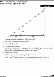 Lesson Exploring Trigonometric Ratios Pdf Right Triangle