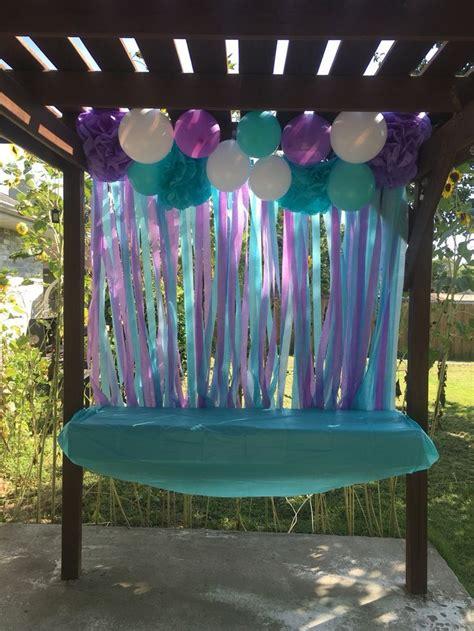 mermaid birthday party backdrop check