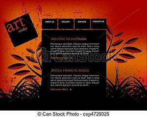 Clipart Vector of Website Template, easy to use in adobe ...