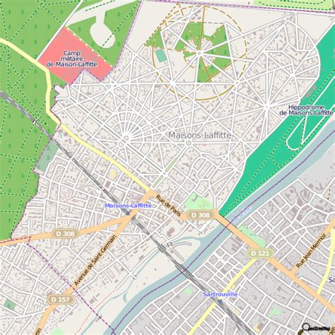 plan maisons laffitte carte ville maisons laffitte