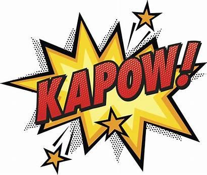 Comic Clip Vector Superhero Kapow Pop Cartoon