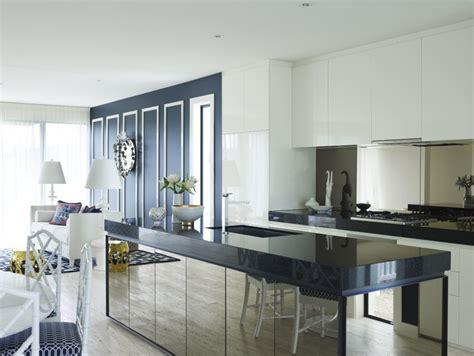 mirrored glass kitchen cabinets mirrored kitchen islands reflect good taste