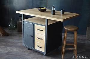 Meuble Cuisine Style Industriel : meuble de style industriel table basse meuble tv micheli design ~ Teatrodelosmanantiales.com Idées de Décoration