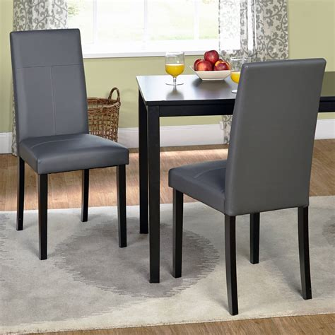 leather dining room chair faux leather parson dining chair set of 2 ebay