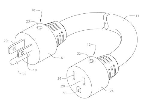patent us20100317222 electrical power extension cord
