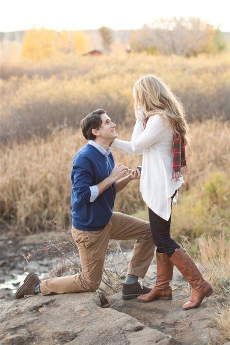 surprise proposal   woods  marriage proposals