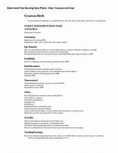 Nursing care plans 1nurses ncp cesarean birth cesarean b for Cesarean birth plan template