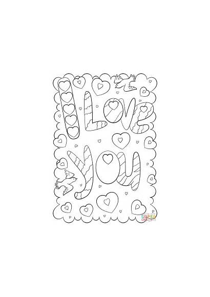Coloring Card Pages Printable Doodle Mom Valentine