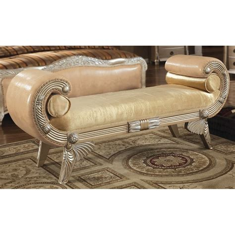 Rolled Arm Settee by Bellevue Leather Bench With Rolled Arms Dcg Stores