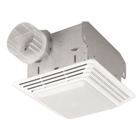 shop broan 2 5 sone 50 cfm white bathroom fan at lowes
