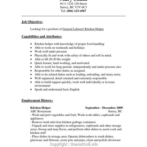 create kitchen manager cv kitchen manager resume assistant