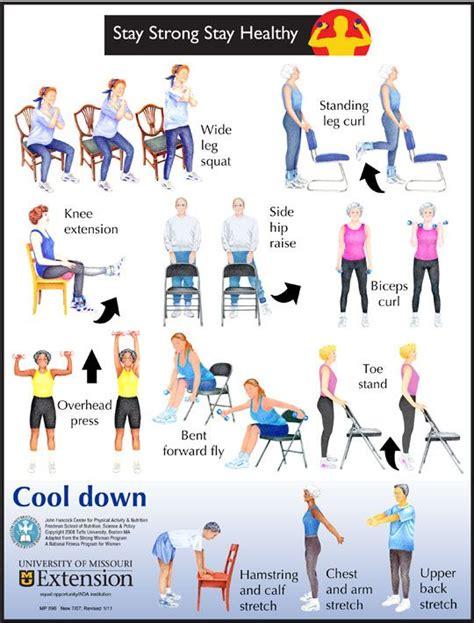exercice de la chaise 5 low impact exercises for senior health exercices la