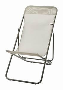 Lafuma Chaise Longue : lafuma chaise longue transatube 2 texplast beige ~ Nature-et-papiers.com Idées de Décoration