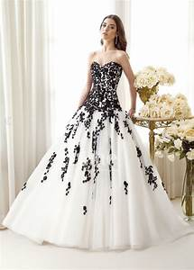 30 black and white wedding dresses combination fashion fuz for Black white wedding dresses