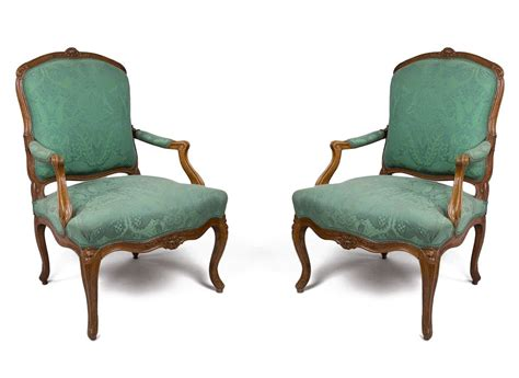pair of louis xv armchairs sted blanchard ref 39482
