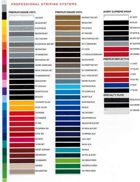 car paint color chart car paint color chart products car