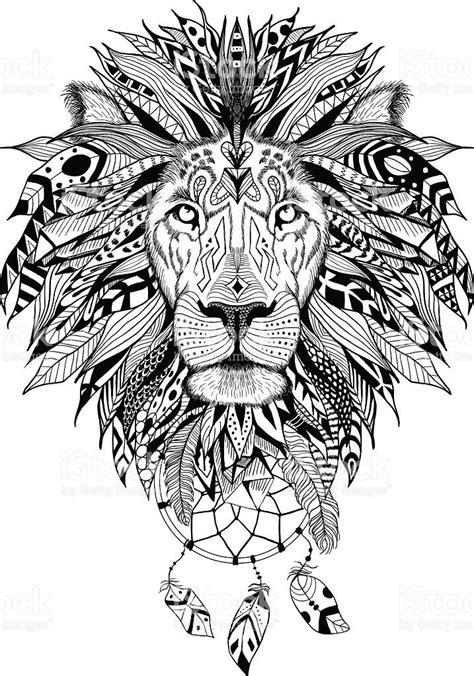 media.istockphoto.com vectors detailed-lion-in-aztec-style