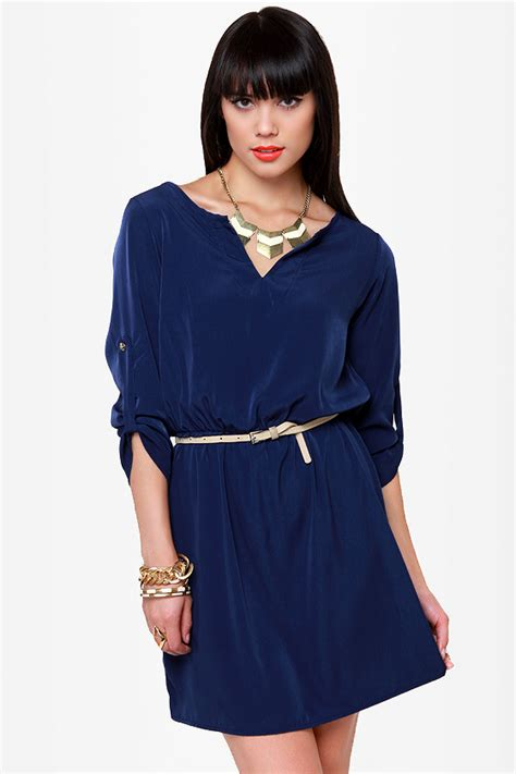 cute navy blue dress casual dress