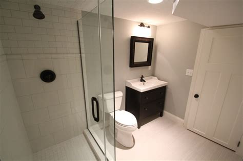 drop ceiling for basement bathroom low ceiling basement transformation traditional