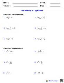 Algebra 2 Worksheets Algebra 2 Worksheets Exponential And Logarithmic Functions Worksheets