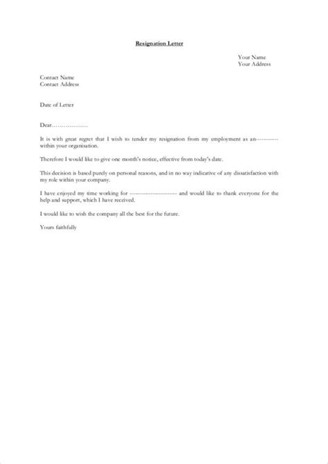 FREE 19+ Professional Resignation Letter Samples in MS Word | PDF
