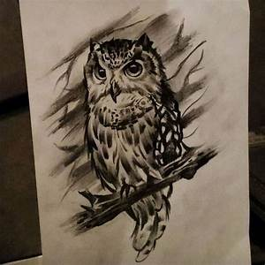30 best Owl In Tree Tattoo Sketch images on Pinterest ...