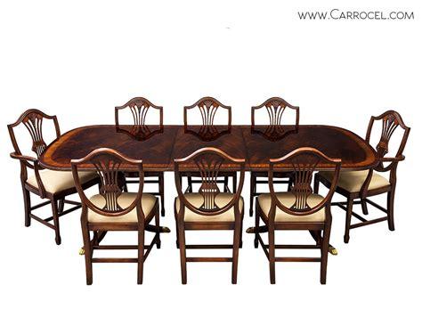 mahogany dining table glossy high quality flamed mahogany duncan phyfe high gloss 7321