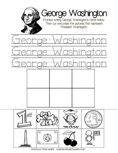 kindergarten worksheets george washington pin by shelton on in the classroom
