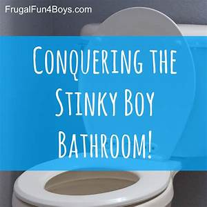 getting rid of boy bathroom stink frugal fun for boys With ammonia smell in bathroom
