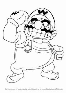 Learn How to Draw Wario from Super Mario (Super Mario ...