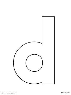 letter d template letter d practice worksheet myteachingstation